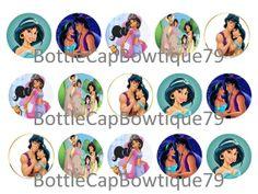 Disney Princess Bottle Cap Images, Jasmine Bottle Cap Images $0.99