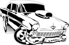 Airbrush Stencils for Cars | full size toonrod stencil 1 toon rod 1 design layered stencil size ...