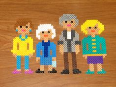 The Golden Girls in Perler/Hama beads! Just brilliant! By my (@Sarah Carnes) good friend Rebecca Van Dusen (for my Golden Girls golden birthday party!)