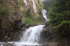 Lower Reid Falls, above the goldrush Cemetery, Skagway, Alaska
