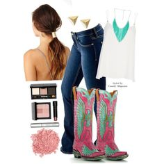 Pink and Turquoise Cowgirl #bulletblues