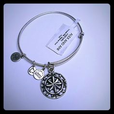 NWT Alex & Ani Compass Silver Awesome alex and ani compass bracelet in silver. New, never worn. Check out my closet for more styles! Alex & Ani Jewelry Bracelets