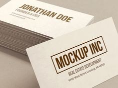 FREEBIE: Business Card Mockup designed by AlienValley. Cleaning Business Cards, Business Card Mock Up, Business Card Design, Mockup, Cards Against Humanity, Graphic Design, Scale Model