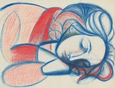 Femme de Endormie.III, 1946. Pablo Picasso
