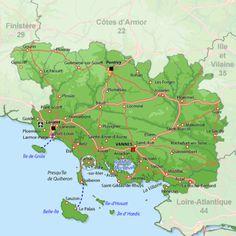Carnac - Mapa Región