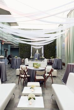 Platinum, wood, green and white modern wedding