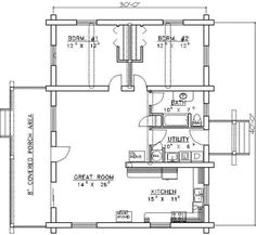 1200 sq ft open house plans - Google Search