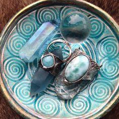 ☮ American Hippie Bohéme Boho Style Jewelry ☮ Dish of rings