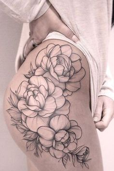 37 Lovely Flower Tattoo Suitable For Women tattoos, flower tattoos, tattoo ideas,tattoo for women The decoration of finger tattoos need not be questioned, but tattoos require high skills of tattoo artists. As the hand is the most flexible part of the hu Hip Thigh Tattoos, Hip Tattoos Women, Sexy Tattoos For Girls, Dope Tattoos, Body Art Tattoos, Girl Tattoos, Sleeve Tattoos, Rose Tattoo Thigh, Finger Tattoos