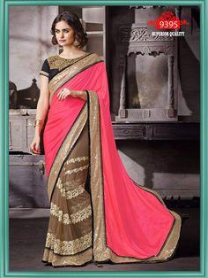 Designer beautiful party wear georgette pallu saree with dupain blouse