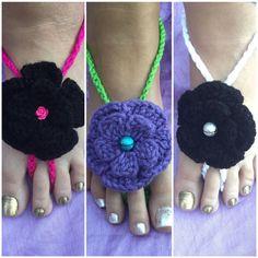 Sandalias descalzas Boho Tejido Crochet. Visita nuestra tienda en Etsy HandmadeCreationsPR