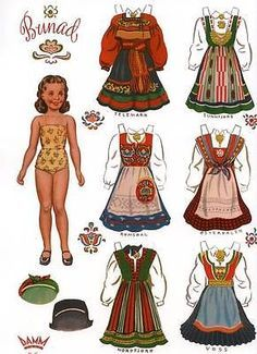 4 Norwegian Paper Dolls With Norway Bunads Traditional Folk Costumes for sale online Paper Toys, Paper Crafts, Paper Puppets, Art Origami, Round Robin, Vintage Paper Dolls, Victorian Paper Dolls, Victorian Dollhouse, Modern Dollhouse