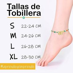 Conoce sobre las tallas de las tobilleras y aplicalo en tus próximos diseños porque #pelgy un universo en piedras #aprendeyemprende😍😍😍 . .… Jewelry Tools, Wire Jewelry, Jewelry Crafts, Beaded Jewelry, Jewelry Design, Jewelry Making, Beaded Bracelets, Ankle Jewelry, Ankle Bracelets