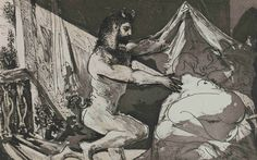 Faun Uncovering a Sleeping Woman, from The Vollard Suite by Picasso