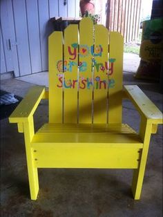 Made This Child Sized Adirondack Chair From These Plans.  Http://ana White.com/2010/05/plans/how Build Super Easy Little Adirondack  Chair