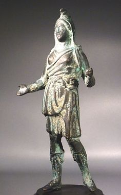 Greek Art Hellenistic bronze figure of the goddess Artemis Bendis. 3rd-1st century BC.