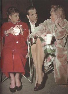 Audrey Hepburn, Humphrey Bogart & Marlene Dietrich behind the scenes of Sabrina