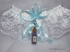 Happily Ever After Garter and Charm Fairy Tale Wedding Disney Inspired Bride Color Options. $20.00, via Etsy.