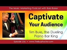 Enjoy this interview Tim Buie, who I consider to be the Dueling Piano Bar King of the World! Also, get a FREE collection of Music Marketing reports when you . Piano Bar, King Of The World, Piano Player, Music People, Music Industry, Musicians, Marketing, Tips, Music Artists