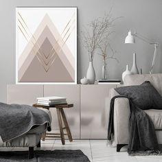Beige & Gold Geometric Wall Art Neutral Tones Art Wall   Etsy Scandinavian Wall Decor, Coastal Wall Decor, Beach Wall Decor, Modern Canvas Art, Large Canvas Prints, Geometric Wall Art, Marble Art, Canvas Wall Art, Instagram