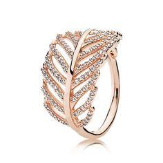 Funkelnde Feder Ring - 180886CZ