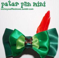 Mini Peter Pan Hair Bow. $3.00, via Etsy.