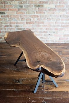 Live Edge Walnut & Old Jack Stand Coffee Table by REPURPOSEGALLERY