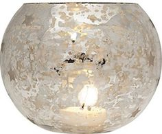 Inspired by vintage mercury glass: Antiqued vintage metallic finish - the reflective and shimmery surface enhances the candle's light. Perfect for holidays, parties, and everyday! Can hold tealight or votive candles.