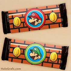 mario candy bar wrapper FREE Printable Super Mario Bros. Candy Bar Wrappers