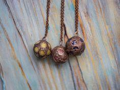Rough Jade Orb, Boho Crystal Globe, Crystal ball pendant, Boho Jewellery, Rustic pendant, Talisman jewellery, Raw copper gemstones jewellery