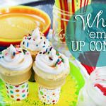 Whip 'Em Up Cones- Perfect Summer Sweet Treat...pudding, whip cream, cones, milk, and sprinklers.