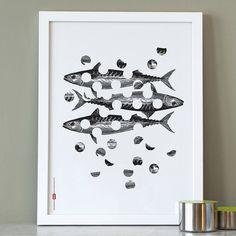 Holy Mackerel Print from notonthehighstreet.com