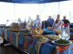 Buffet on board for a delicious tasty of tipycal #Sicilian  #cook