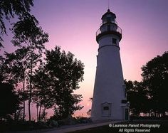 Lighting up the Lake Erie Marblehead Lighthouse with a beautiful sunrise!