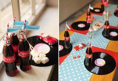 50's theme party decor ~ cute!