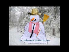 Chanson - Versini - Un bonhomme de neige est né - YourKidTv (avec des paroles) French Teacher, Teaching French, Winter Activities, Literacy Activities, French Songs, French Kids, Core French, French Classroom, French Resources