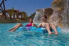 Floating on the lazy river at Gaylord Texan near Dallas, TX