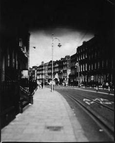 Harcourt Street, Dublin Sinar Schneider-Kreuznach Symmar-S Harman/Ilford Direct Positive Paper Photographer: Artur Sikora Dublin, Paper Frames, Frame Sizes, Urban Landscape, Street View, Framed Prints, Fine Art, Black And White, Portrait