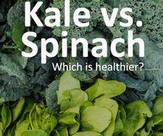 See the differences of kale vs. spinach and which leafy green is more nutrient dense. Kale Vegetable, Kale And Spinach, New Recipes, The Cure, Weight Loss, Vegetables, Healthy, Green, Losing Weight