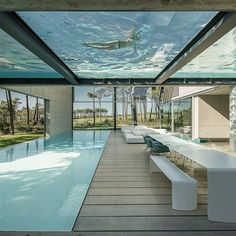 Decor – Pools :     in portugal, 'the wall house' by guedes cruz arquitectos features a transparent swimming pool at the roof that looks down at an expansive outdoor patio. photo by @ricardoliveiralvesphotography  see more #architecture on #designboom    -Read More –
