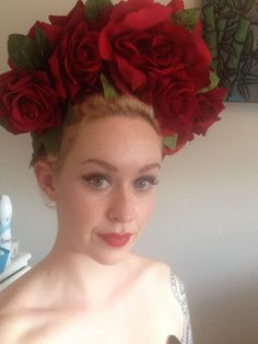 A viable solution to a bad hair day. Flower headpiece!