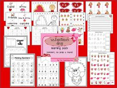 Valentine's Day learning pack {centers, NO Prep printables & more}