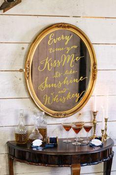 Small wedding bar: http://www.stylemepretty.com/new-zealand-weddings/2015/01/27/cerulean-blue-suede-wedding-inspiration/ | Photography: Lauren & Delwyn - http://www.laurenanddelwyn.co.nz/