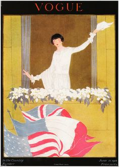 1918 Vogue Magazine Cover June 15th 8 5 x 11 Giclee Print | eBay