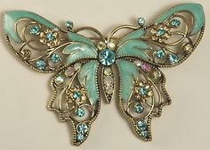 Check out the deal on AVON NR Rhinestone and Enamel Butterfly Brooch at Amazing Adornments