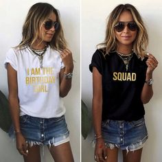 The Birthday Girl Squad Crew Party Shirts Glitter Birthday Girl Queen Squad  Handmade Custom 30th Birthday T-shirt Shirt 21st Birthday d73345dacf7a9