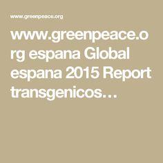 www.greenpeace.org espana Global espana 2015 Report transgenicos…