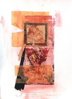 Untitled collagraph and collage Collagraph, Mixed Media, Abstract Art, Collage, Watercolor, Day, Prints, Foundation, Painting