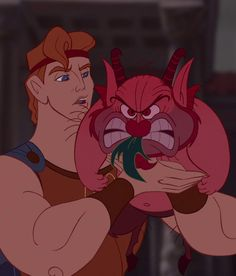 That moment when Phil goes so red that he makes Ariel hide behind Megara...