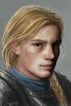 a6a7:  Back to drawing… sort of.Freckled young knight for my dearie ;)